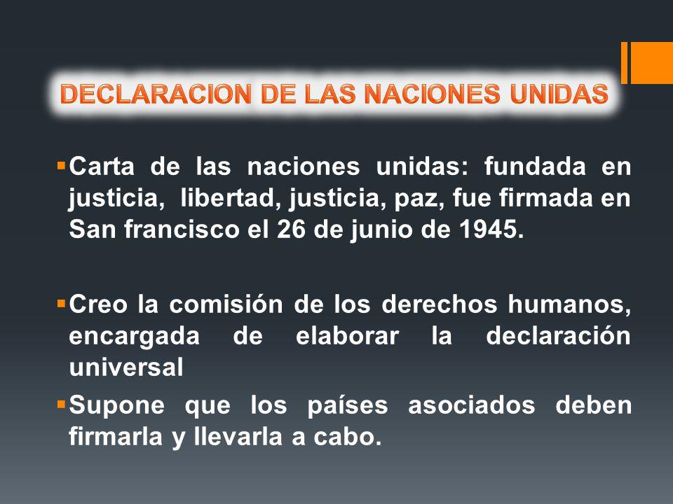 DECLARACION DE LAS NACIONES UNIDAS