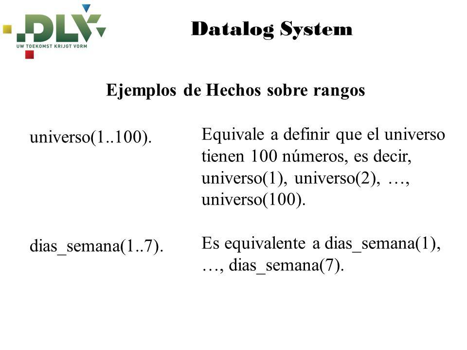 Datalog System Ejemplos de Hechos sobre rangos