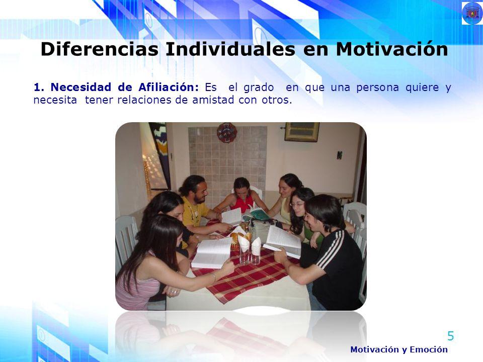 Diferencias Individuales en Motivación
