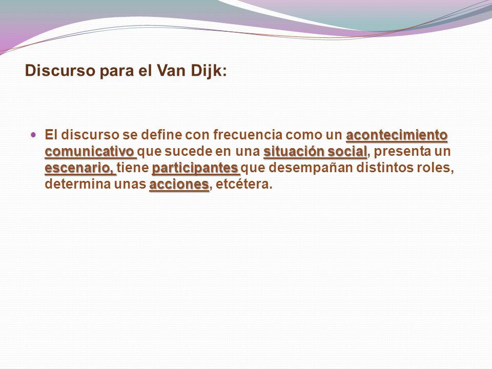 Discurso para el Van Dijk: