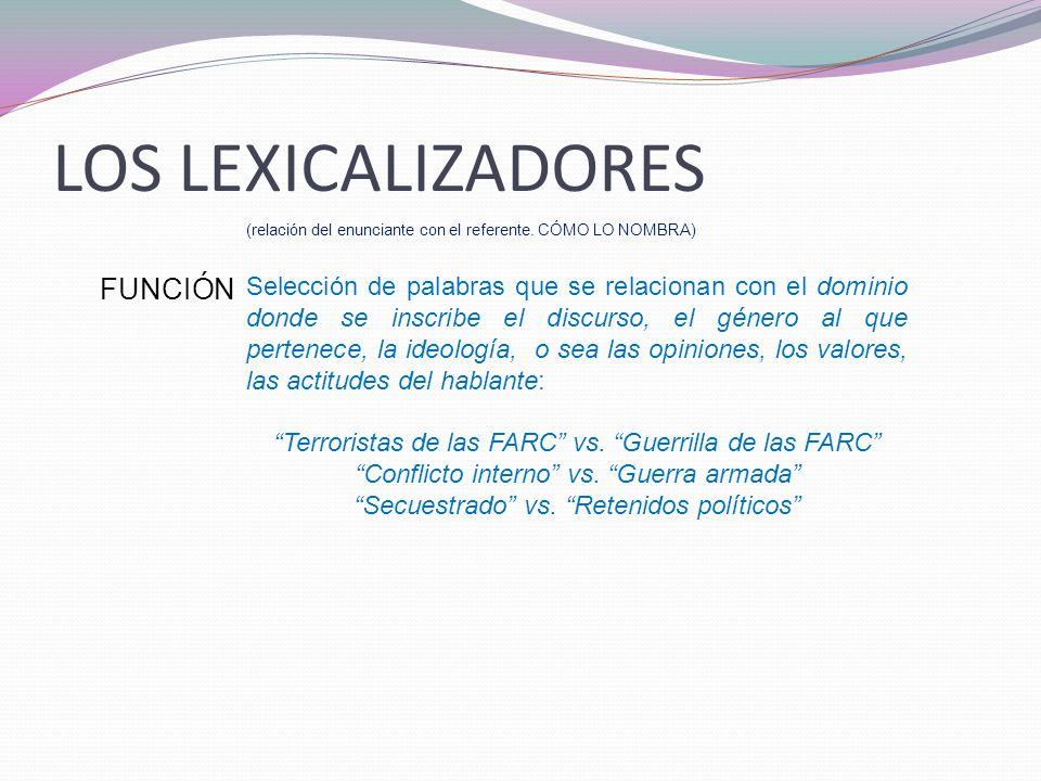 LOS LEXICALIZADORES FUNCIÓN