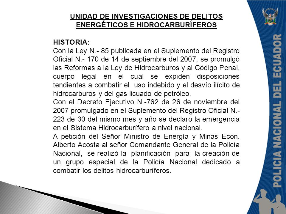 Unidad de Investigaciones de Delitos Energéticos e Hidrocarburíferos