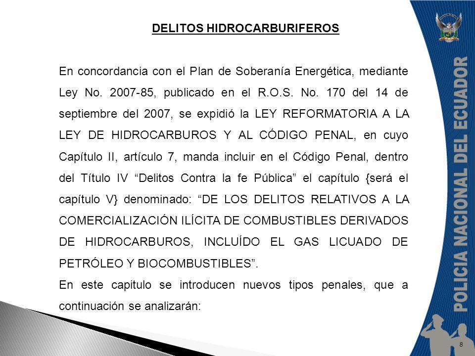 DELITOS HIDROCARBURIFEROS