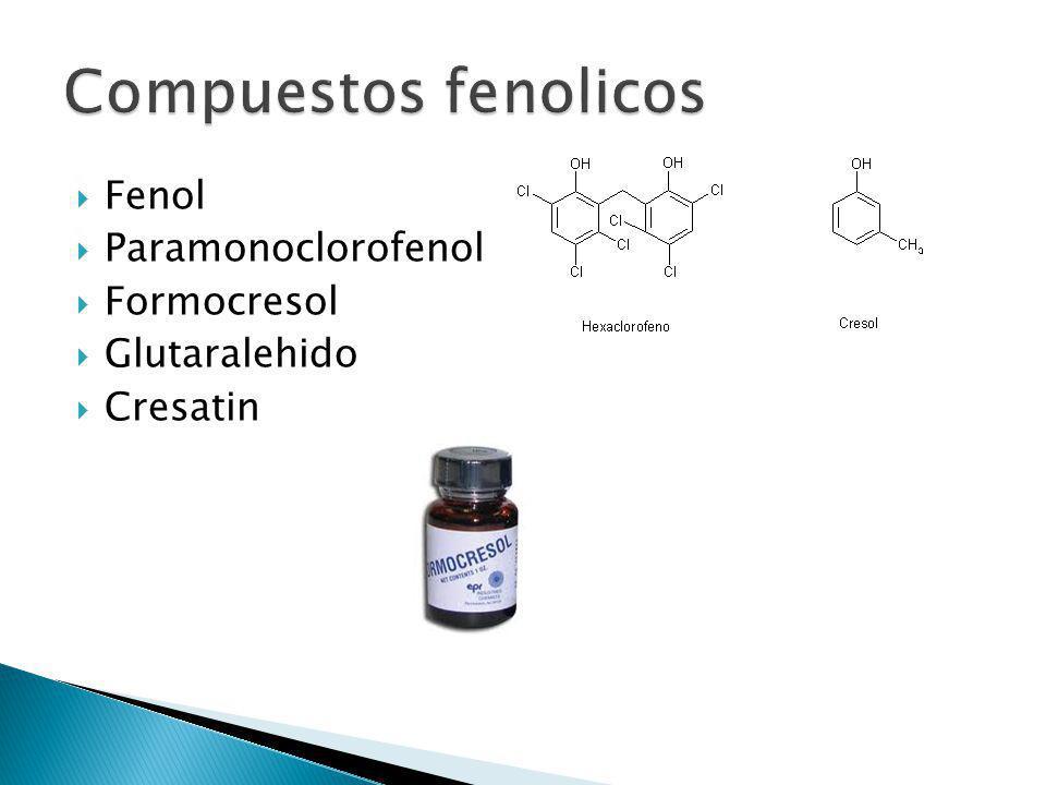 Compuestos fenolicos Fenol Paramonoclorofenol Formocresol