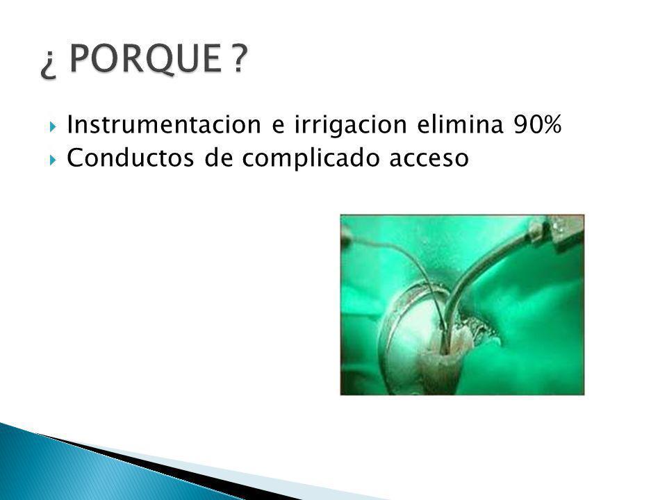 ¿ PORQUE Instrumentacion e irrigacion elimina 90%