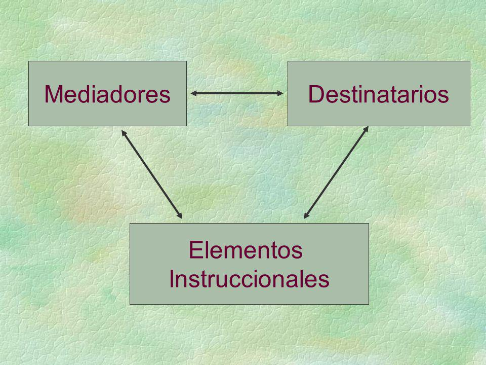 Mediadores Destinatarios Elementos Instruccionales