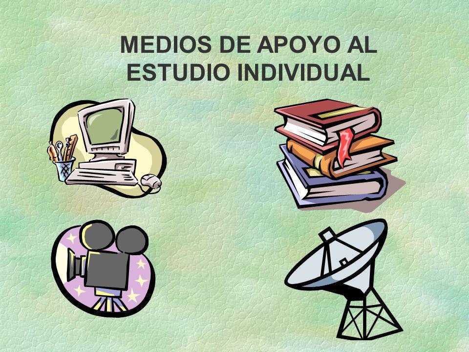 MEDIOS DE APOYO AL ESTUDIO INDIVIDUAL