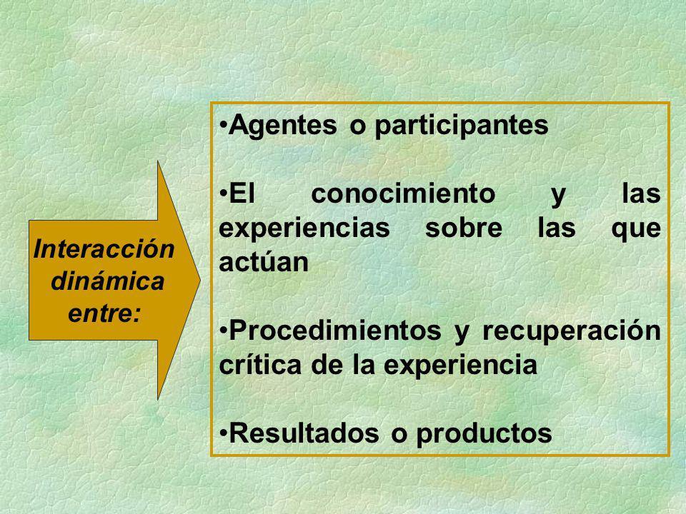 Agentes o participantes