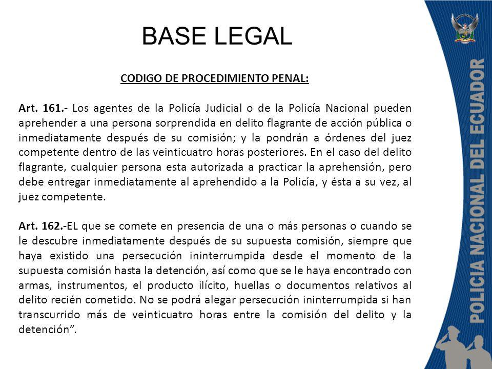 CODIGO DE PROCEDIMIENTO PENAL: