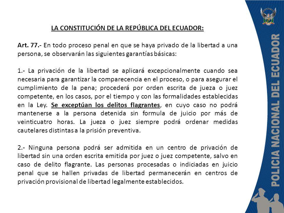 LA CONSTITUCIÓN DE LA REPÚBLICA DEL ECUADOR: