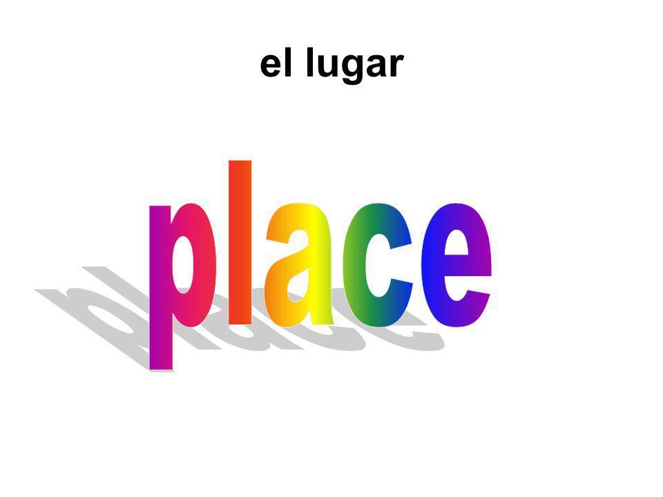 el lugar place