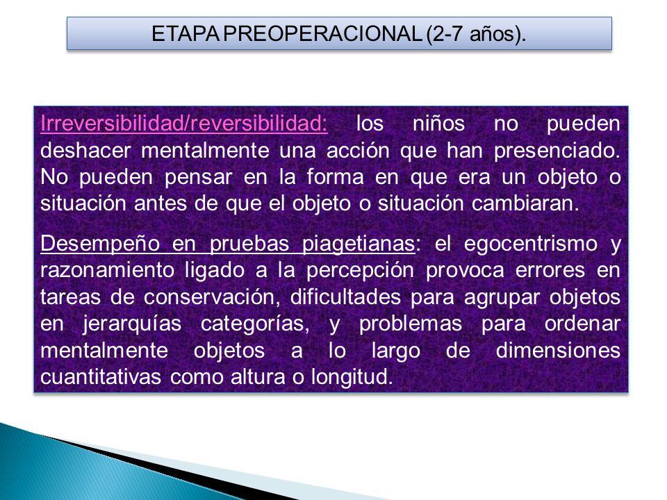 ETAPA PREOPERACIONAL (2-7 años).
