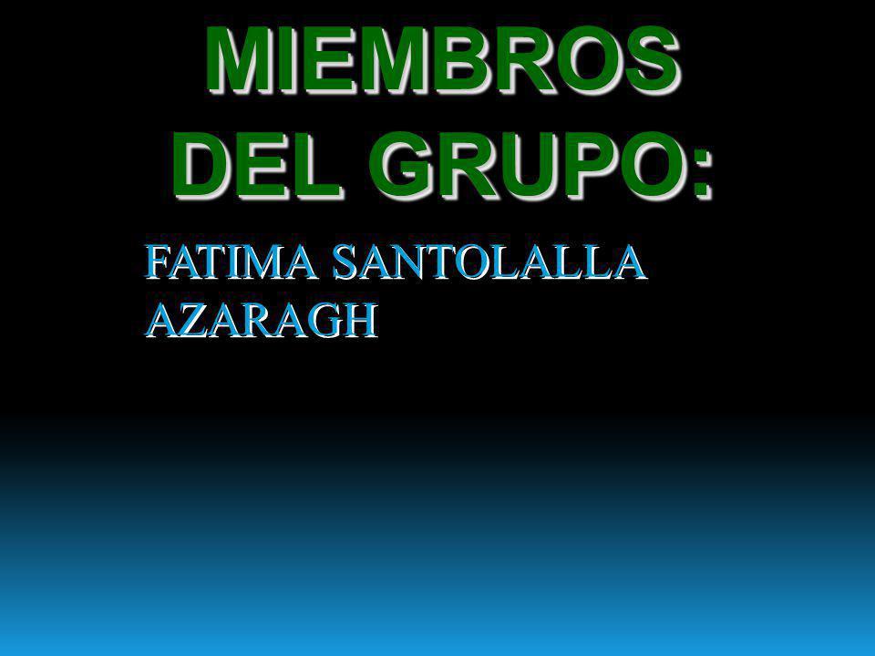 MIEMBROS DEL GRUPO: FATIMA SANTOLALLA AZARAGH