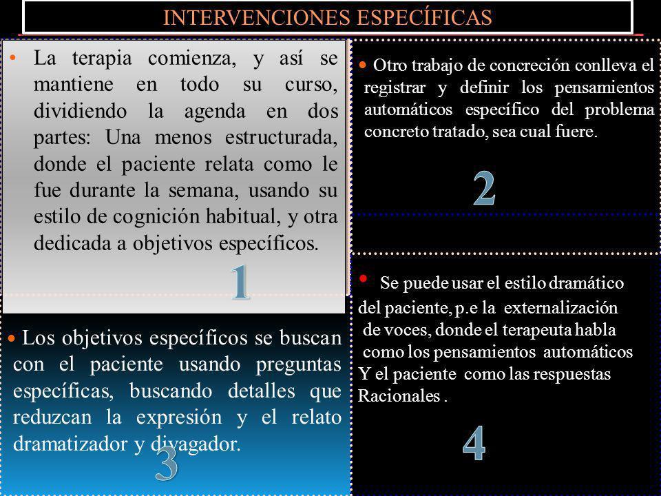 INTERVENCIONES ESPECÍFICAS