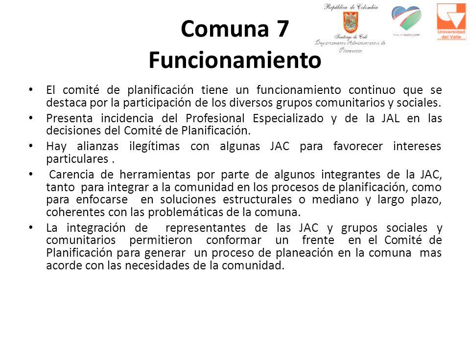 Comuna 7 Funcionamiento