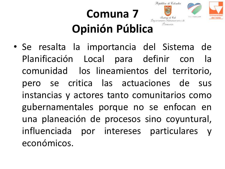 Comuna 7 Opinión Pública