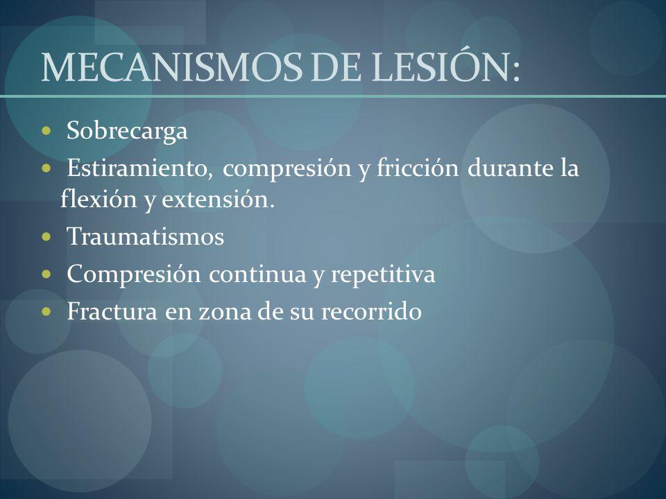 MECANISMOS DE LESIÓN: Sobrecarga