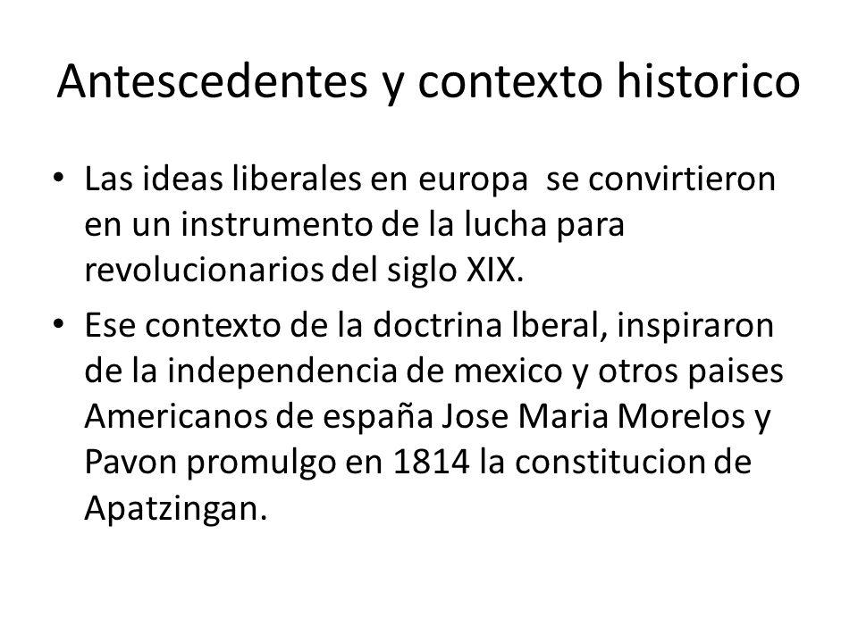 Antescedentes y contexto historico