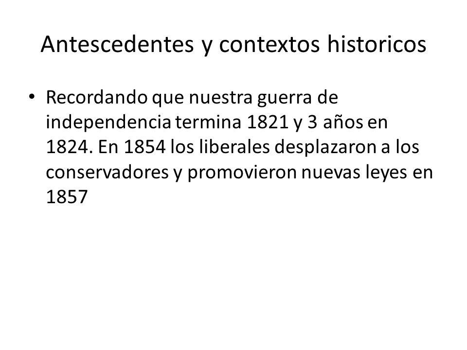 Antescedentes y contextos historicos