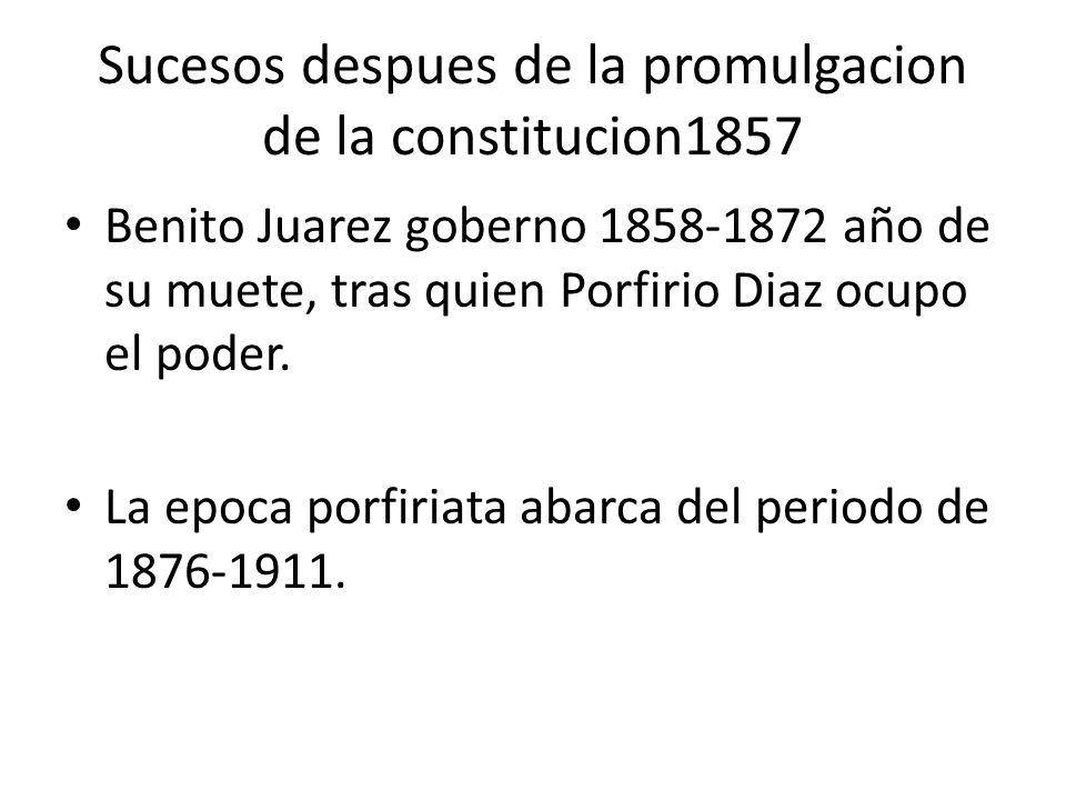 Sucesos despues de la promulgacion de la constitucion1857