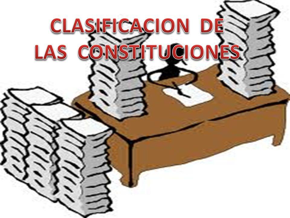 CLASIFICACION DE LAS CONSTITUCIONES