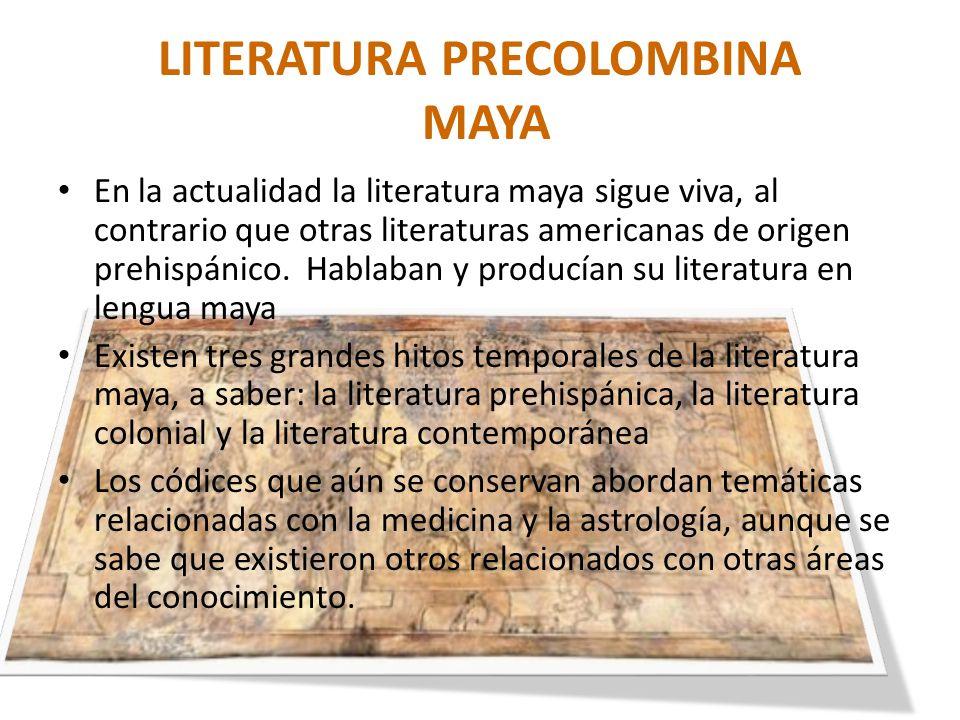LITERATURA PRECOLOMBINA MAYA
