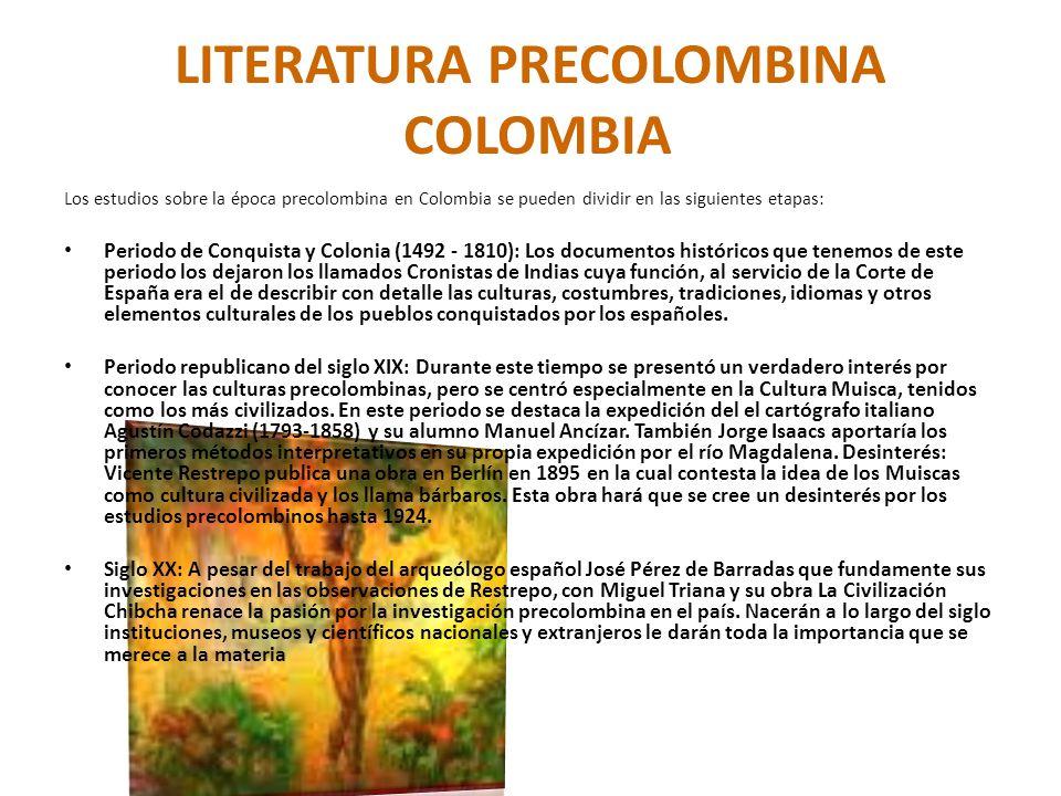 LITERATURA PRECOLOMBINA COLOMBIA