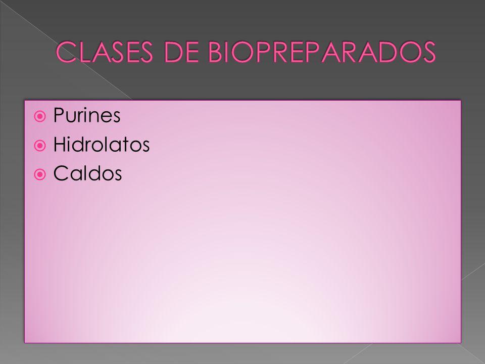 CLASES DE BIOPREPARADOS