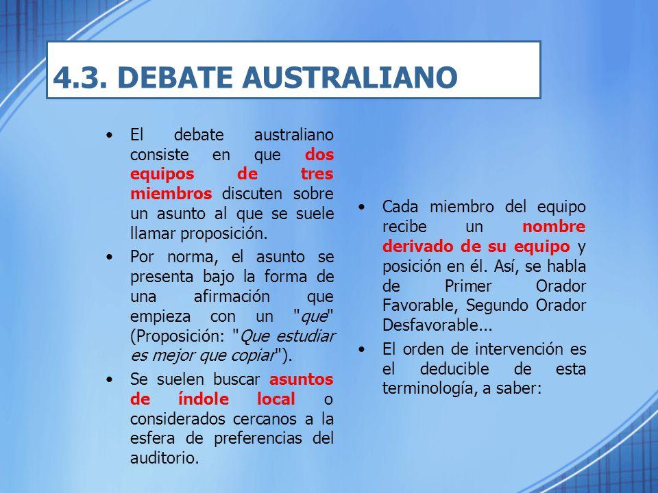 4.3. DEBATE AUSTRALIANO