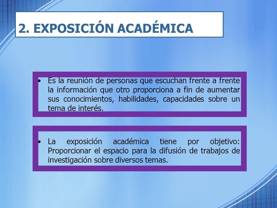 2. EXPOSICIÓN ACADÉMICA