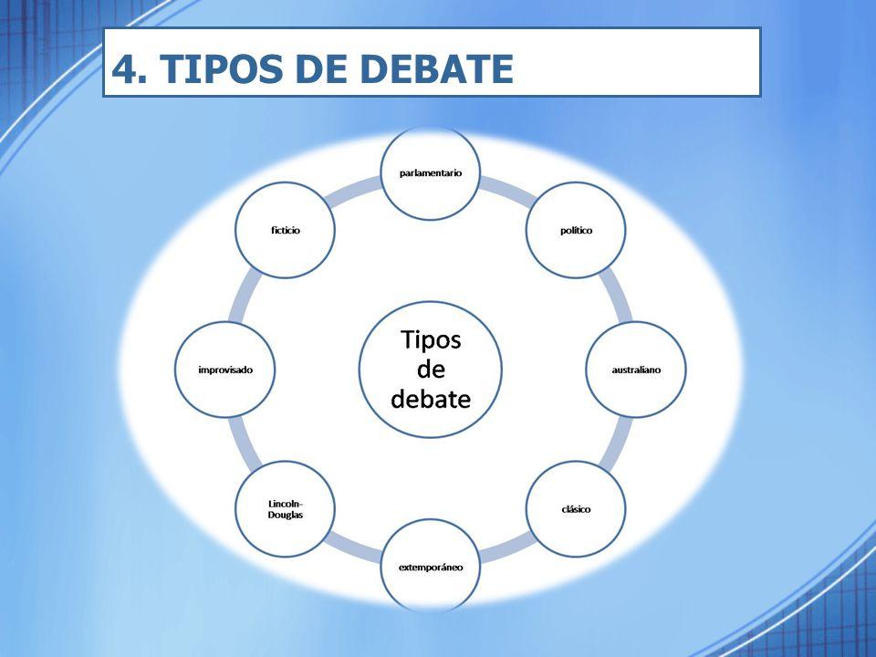 4. TIPOS DE DEBATE