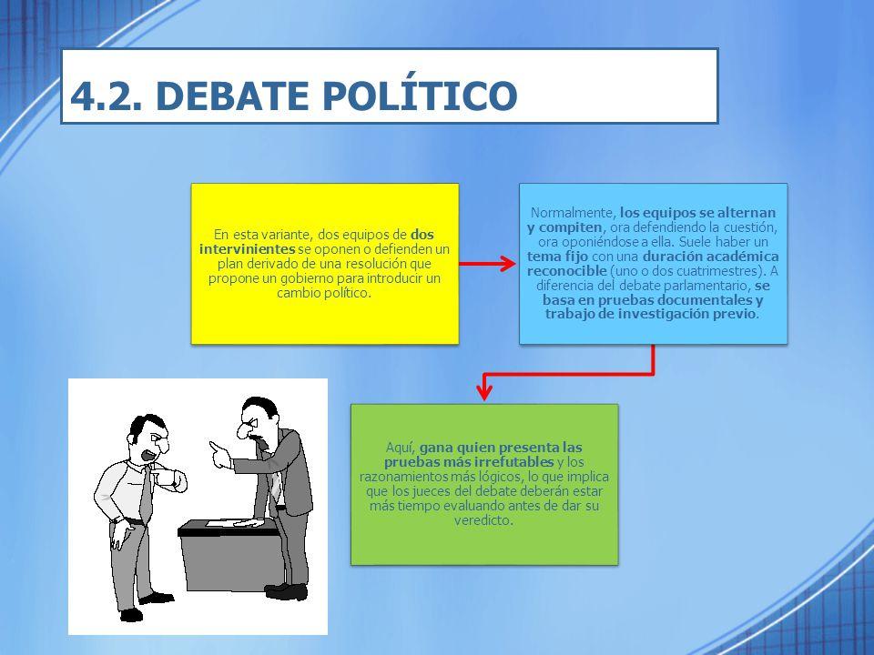 4.2. DEBATE POLÍTICO