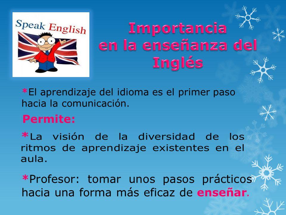 en la enseñanza del Inglés
