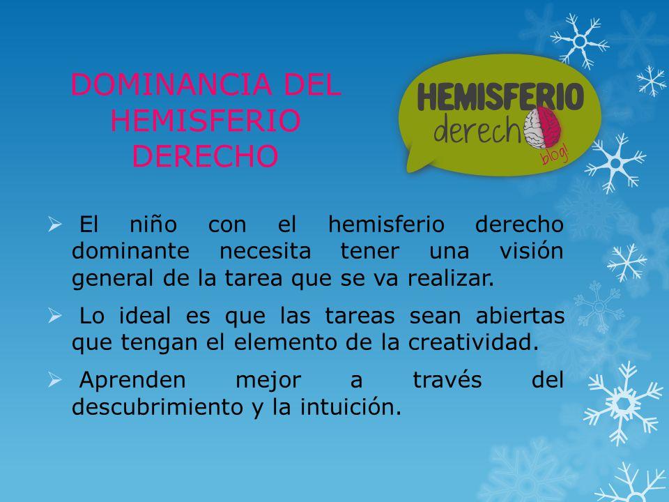 DOMINANCIA DEL HEMISFERIO DERECHO