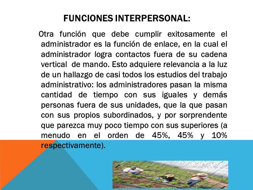 Funciones interpersonal: