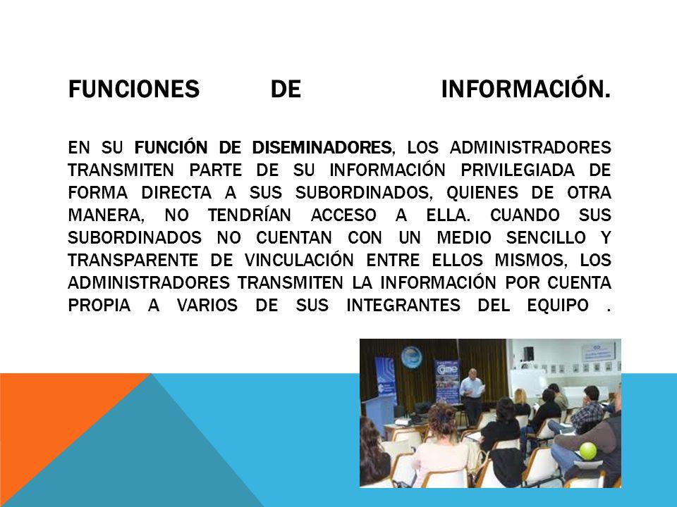 Funciones de información