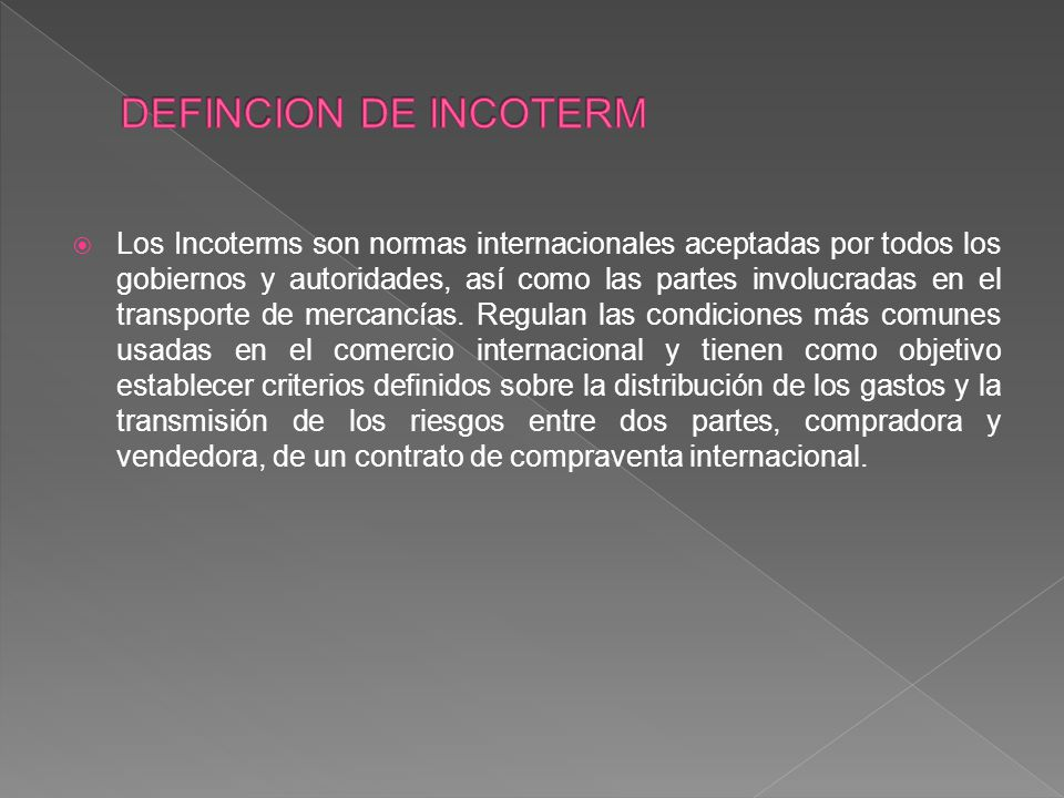 DEFINCION DE INCOTERM