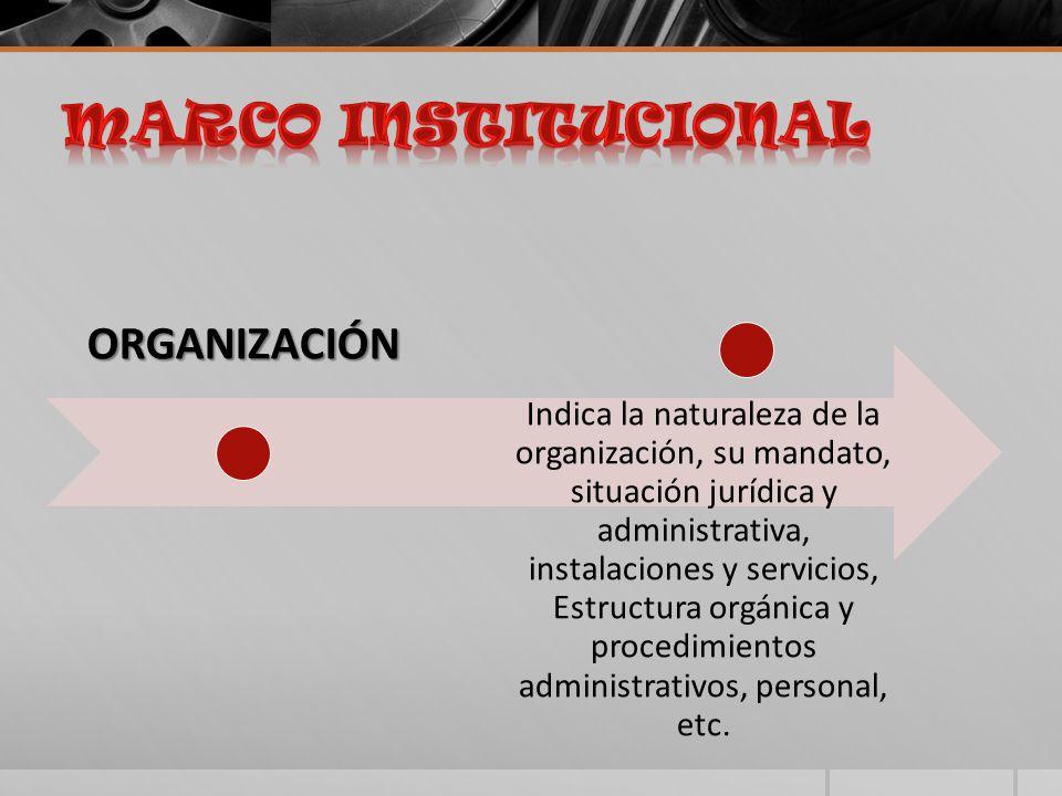 MARCO INSTITUCIONAL ORGANIZACIÓN