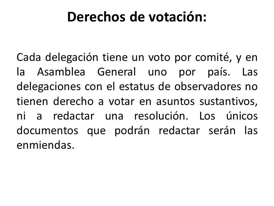 Derechos de votación: