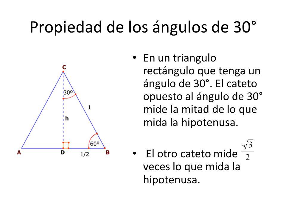 Propiedad de los ángulos de 30°