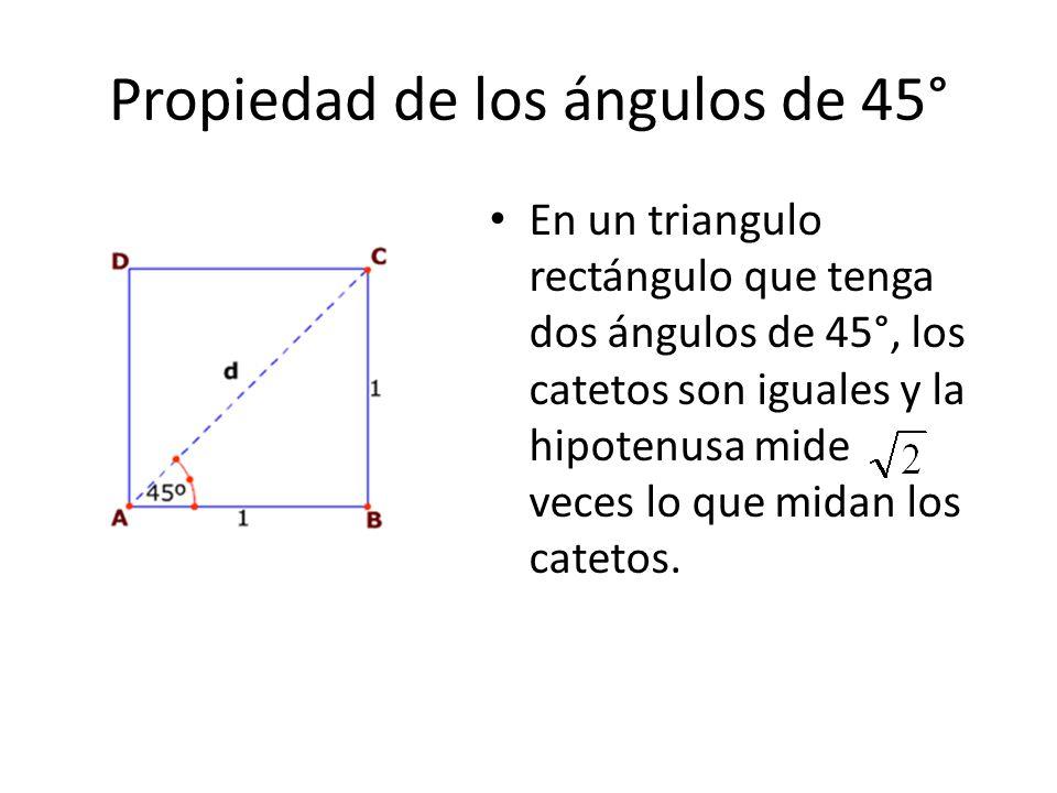 Propiedad de los ángulos de 45°