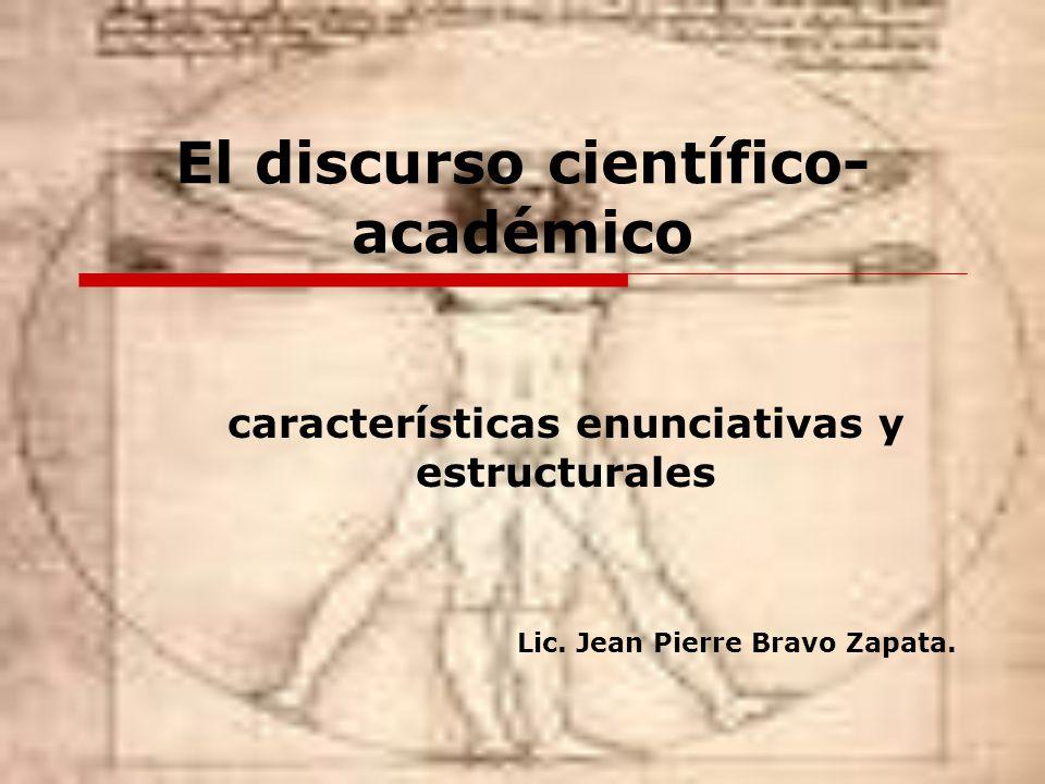 El discurso científico-académico