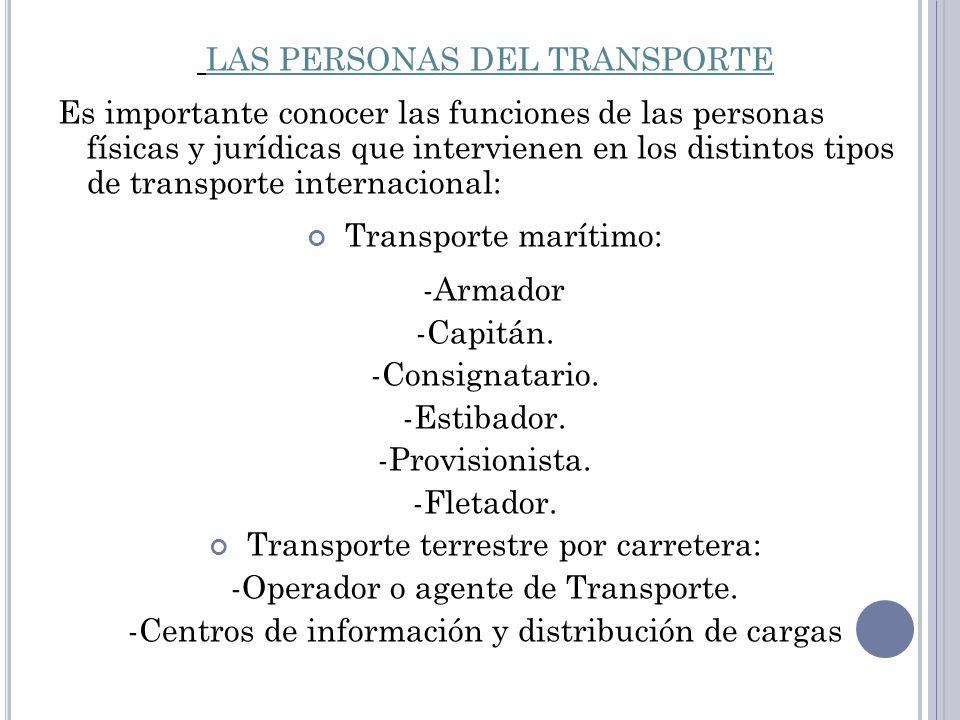 LAS PERSONAS DEL TRANSPORTE