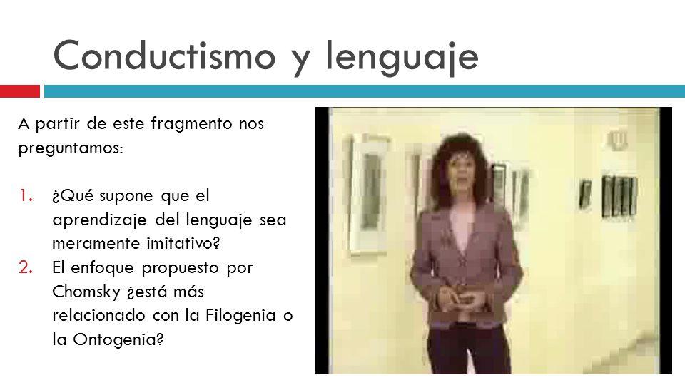 Conductismo y lenguaje