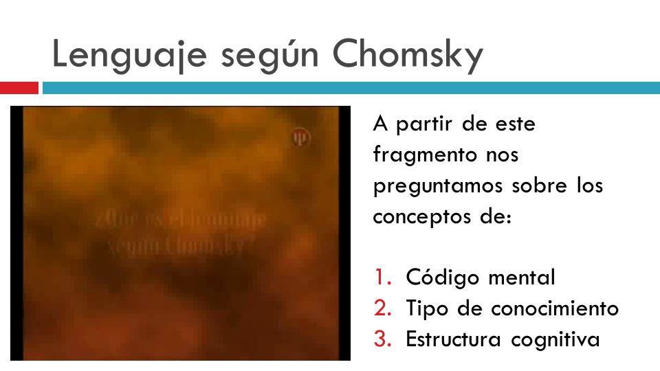 Lenguaje según Chomsky