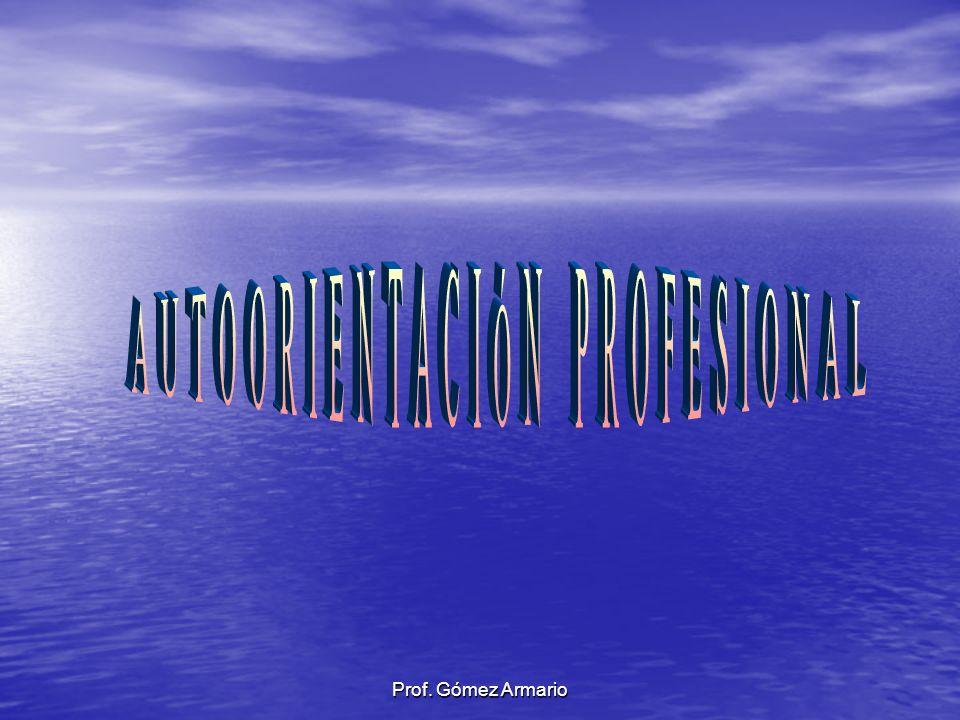 AUTOORIENTACIÓN PROFESIONAL