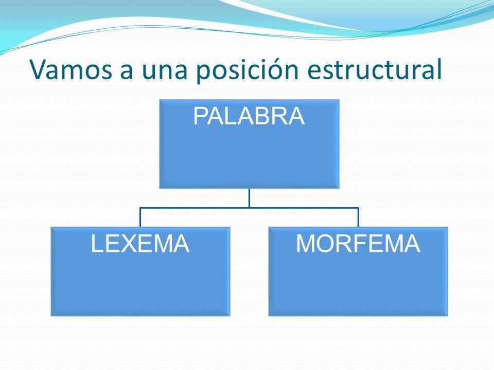 Vamos a una posición estructural