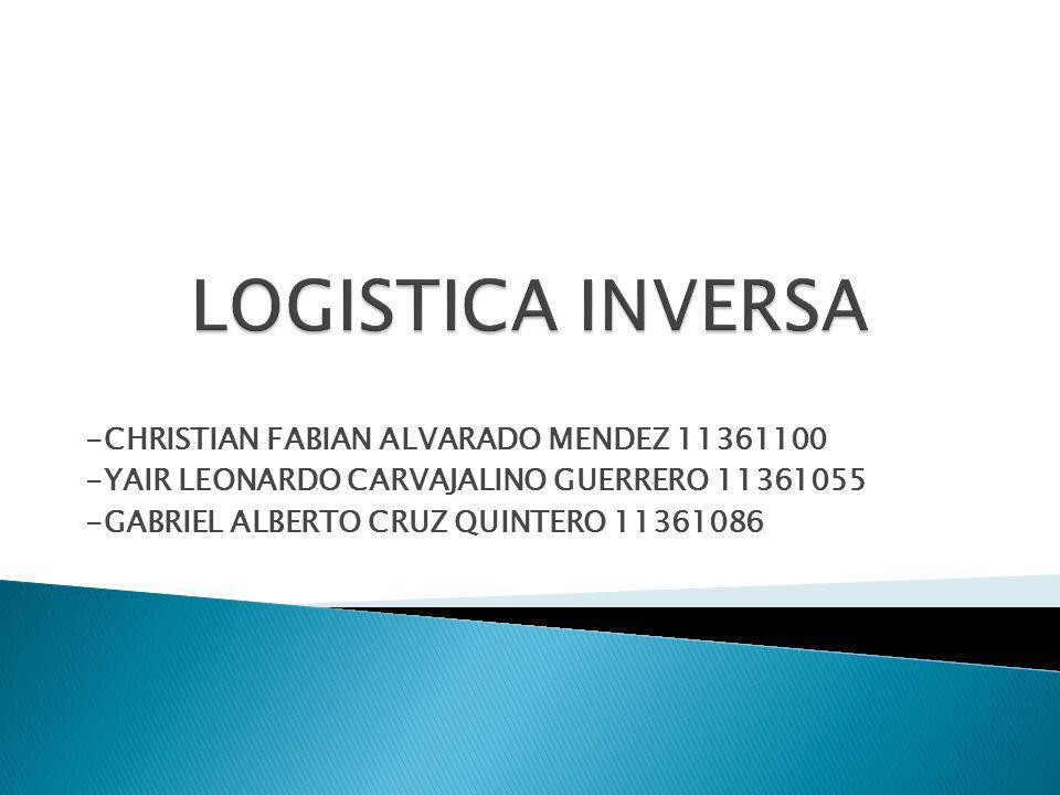 LOGISTICA INVERSA -CHRISTIAN FABIAN ALVARADO MENDEZ 11361100