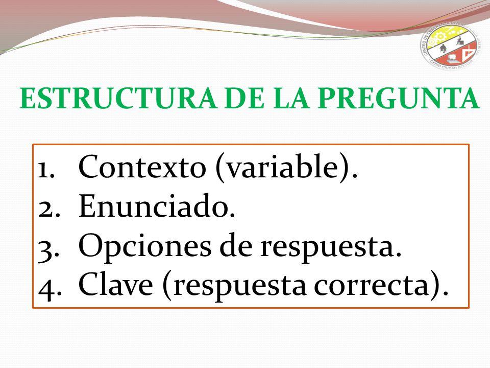Clave (respuesta correcta).