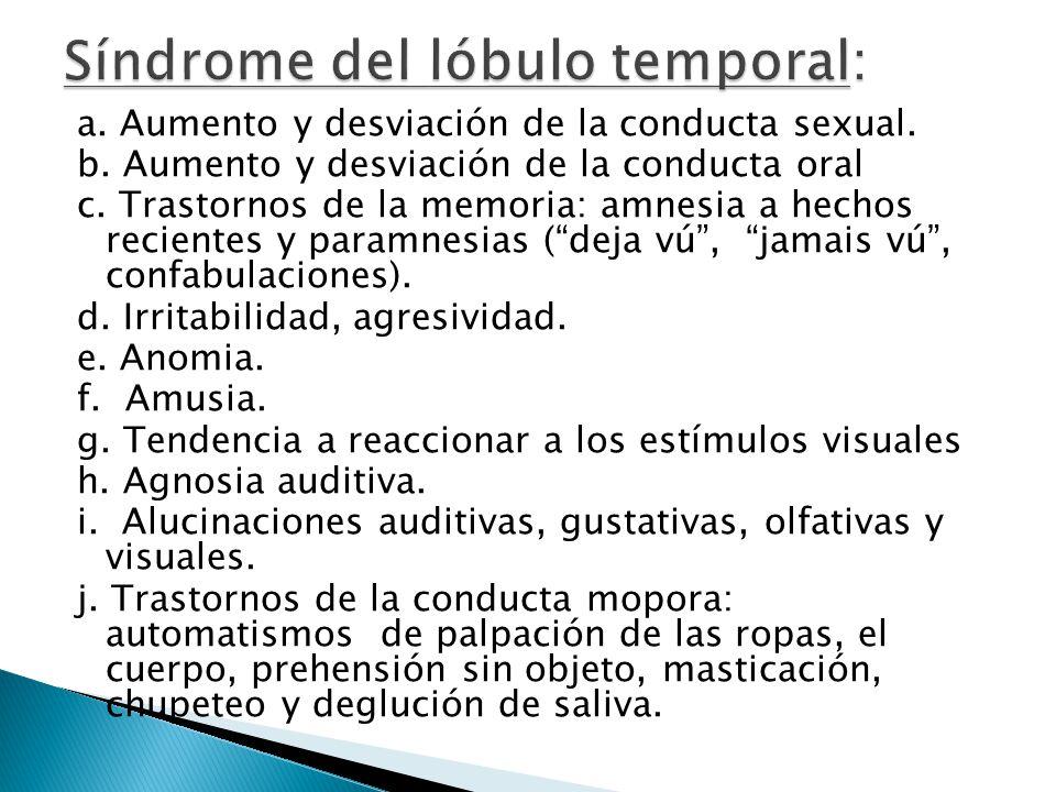 Síndrome del lóbulo temporal: